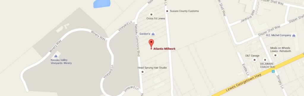 Map of Atlantic Millwork location