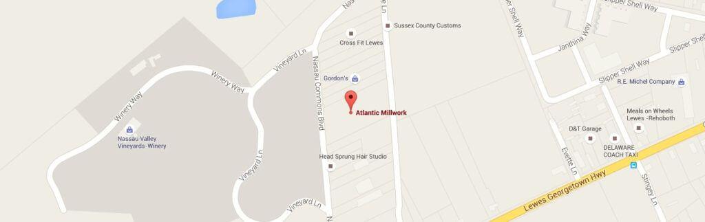 Map of Atlantic Millwork location