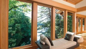 Wood frame windows