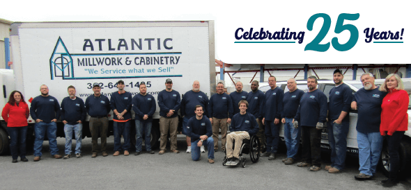 Photo of Atlantic Millwork & Cabinetry Staff Members Celebrating 25 Year History in Business